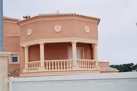 Porthole, balustrade
